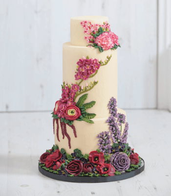 floral_wedding__buttercream_cake