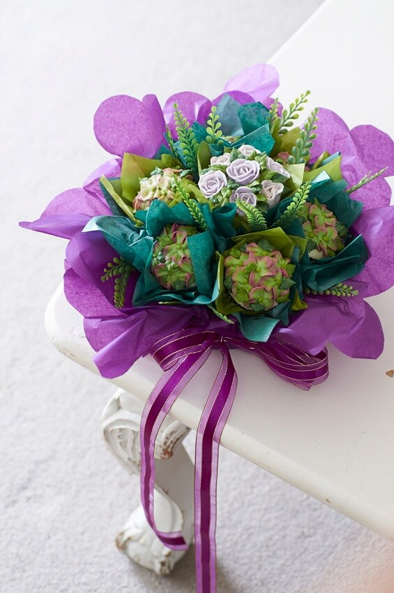 cupcake-bouquet-purple