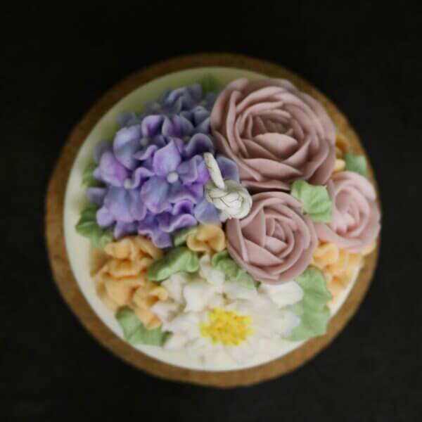 soy flower candle